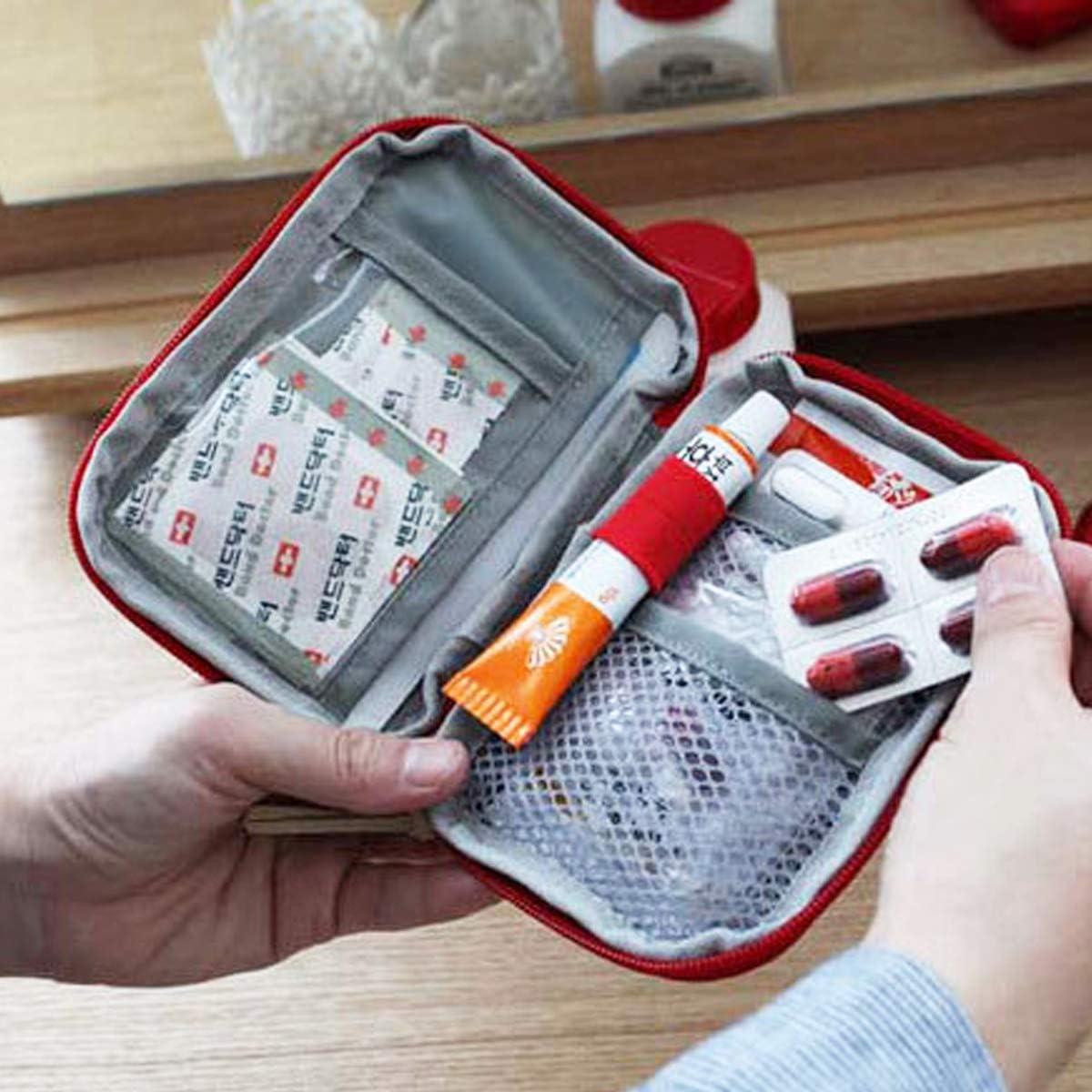 Botiqu/ín de Primeros Auxilios,Zuzer 3PCS Bolsa M/édica Vacio Bolso de Primeros Auxilios Bolsa de Medicinas para Coche Camping Viajes