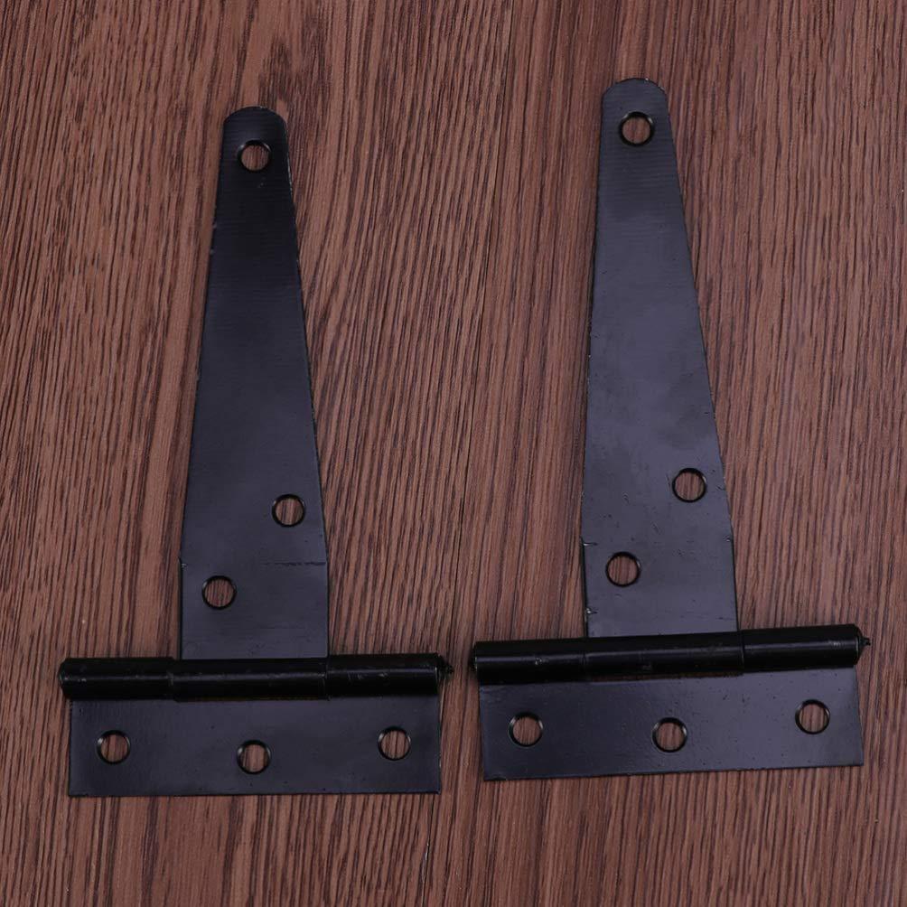 bisagras para puertas de cocina 2 pulgadas Doitool Bisagras en forma de T para puertas de madera color negro bisagras para puertas de acero inoxidable