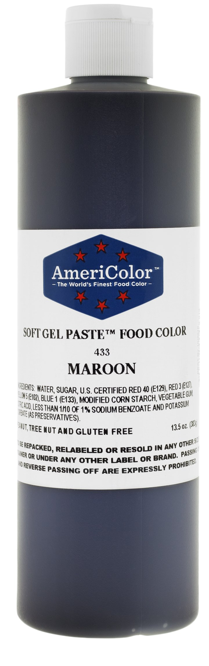MAROON 13.5 Ounce Soft Gel Paste Food Color