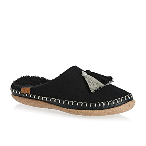 6a1926a37a0 Toms Women s Ivy Women s Black Wool Slippers Tassels in Size 40 EU   7 UK  Black  Amazon.co.uk  Shoes   Bags