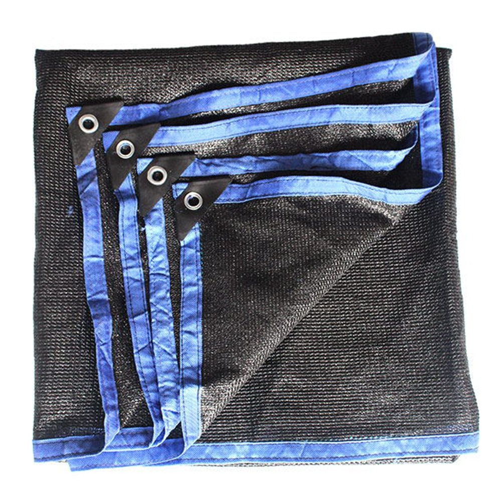HAIPENG Schattierungsnetz Schatten Netting Sonnenschutznetz Polyethylen Plane Verdicken Verschlüsselungsnetz Wärmeisolierung Schwerlast (Farbe   schwarz+Blau, größe   6x8m)