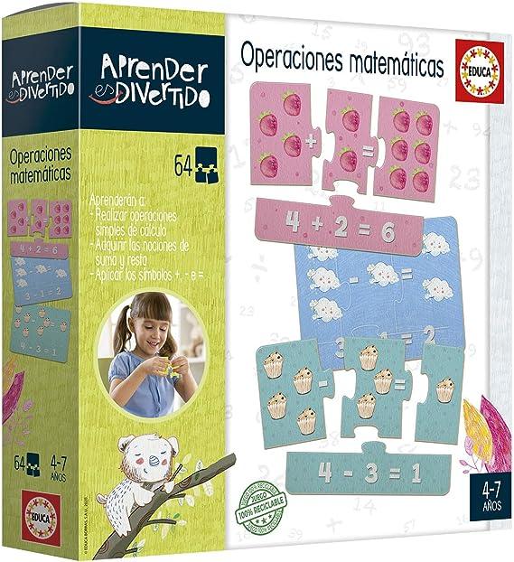 Educa- Aprender es Divertido: Operaciones Matemáticas Juego Educativo para niños, a Partir de 3 años (18699): Amazon.es: Juguetes y juegos