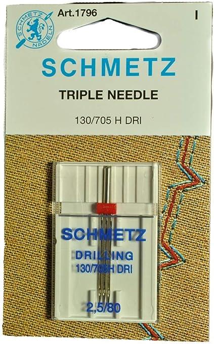 Schmetz - Aguja triple para máquina de coser: Amazon.es: Hogar