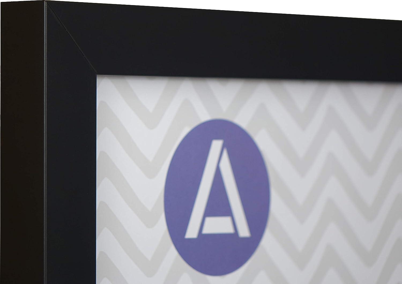 Athena Matt Black Block Premium Wood Picture Frame A2