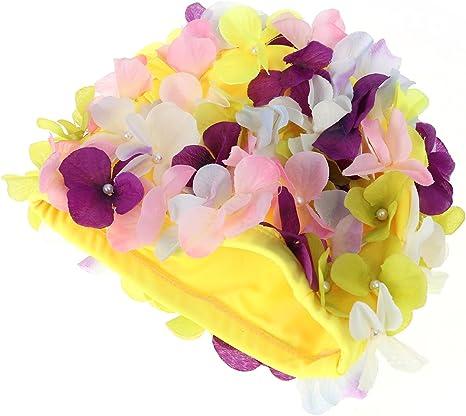 Tinksky Nadar Regalo Tapa natación Hat Flores pétalo Elegante ...