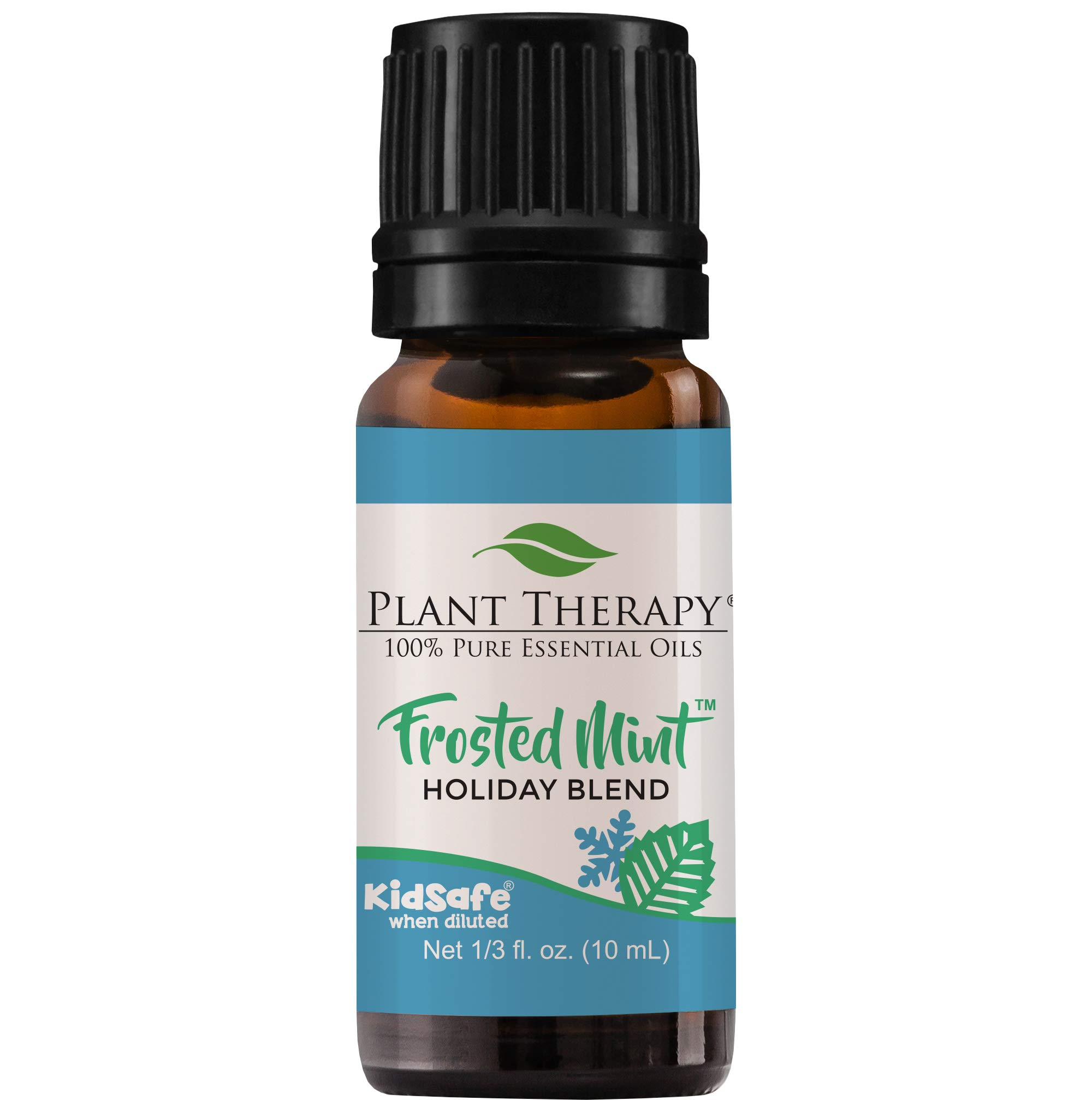 Plant Therapy Essential Oil | Frosted Mint Holiday Blend | Therapeutic Grade, 100% Pure | Natural, Undiluted | 10 mL (1/3 oz)