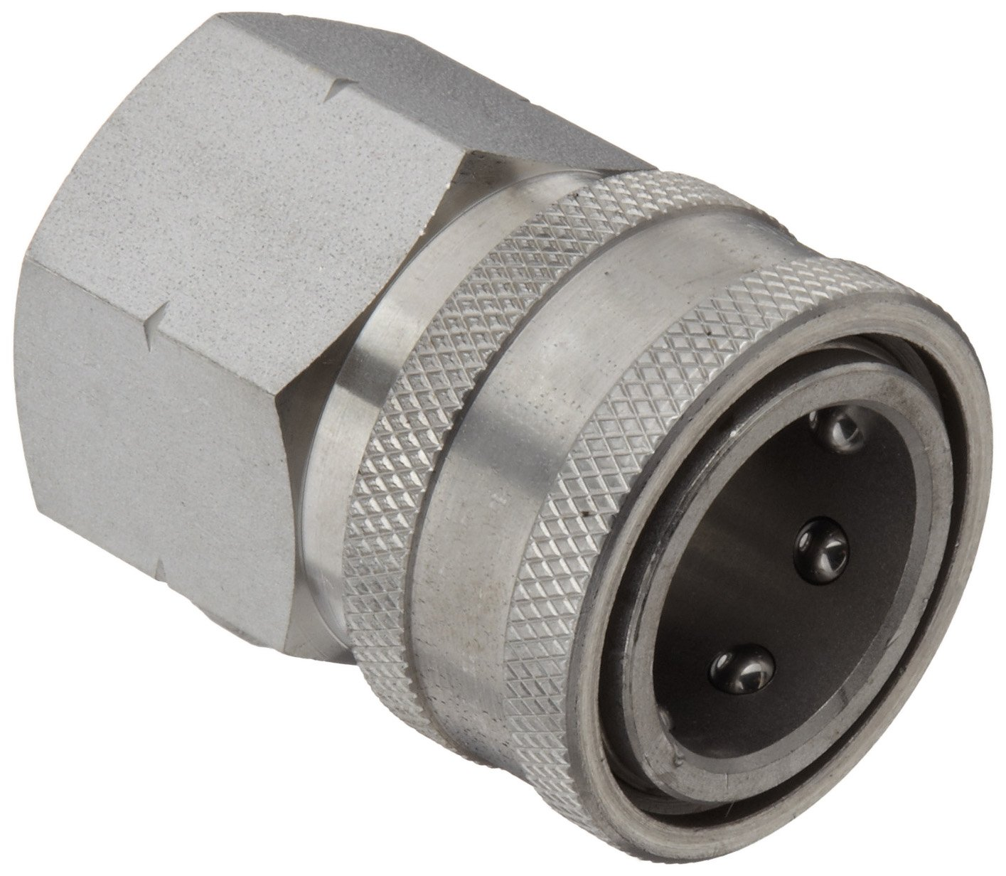 Dixon STFC6SS Stainless Steel 303 Hydraulic Quick-Connect Fitting, Coupler, 3/4'' Female Coupling, 3/4''-14 Straight Thread