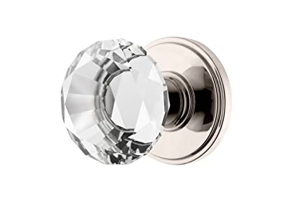 Decor Living, AMG And Enchante Accessories Diamond Crystal Door Knobs,  Passage Function For Hall