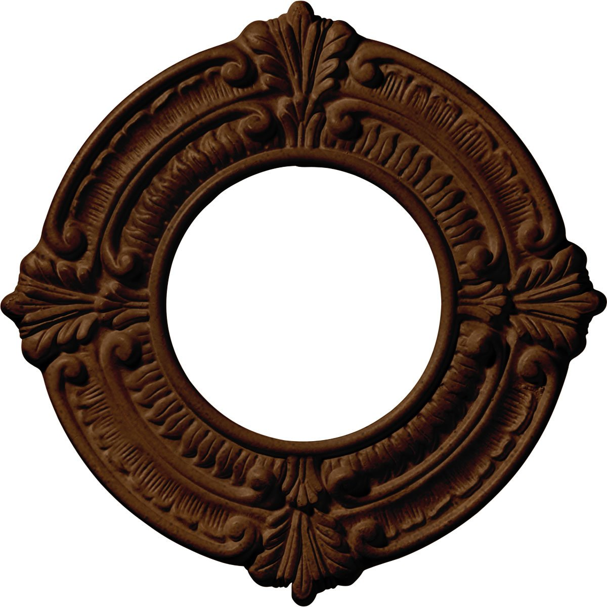 Ekena Millwork CM09BNRZS Ceiling Medallion 9'' OD x 4 ID x 5/8'' P Benson (fits Canopies up to 4 1/8''), Rubbed Bronze