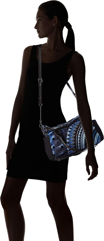 Bolso Mujer Desigual Blue Friend Loverty Blue Indigo Azul (Blue Indigo) 43eyJJld