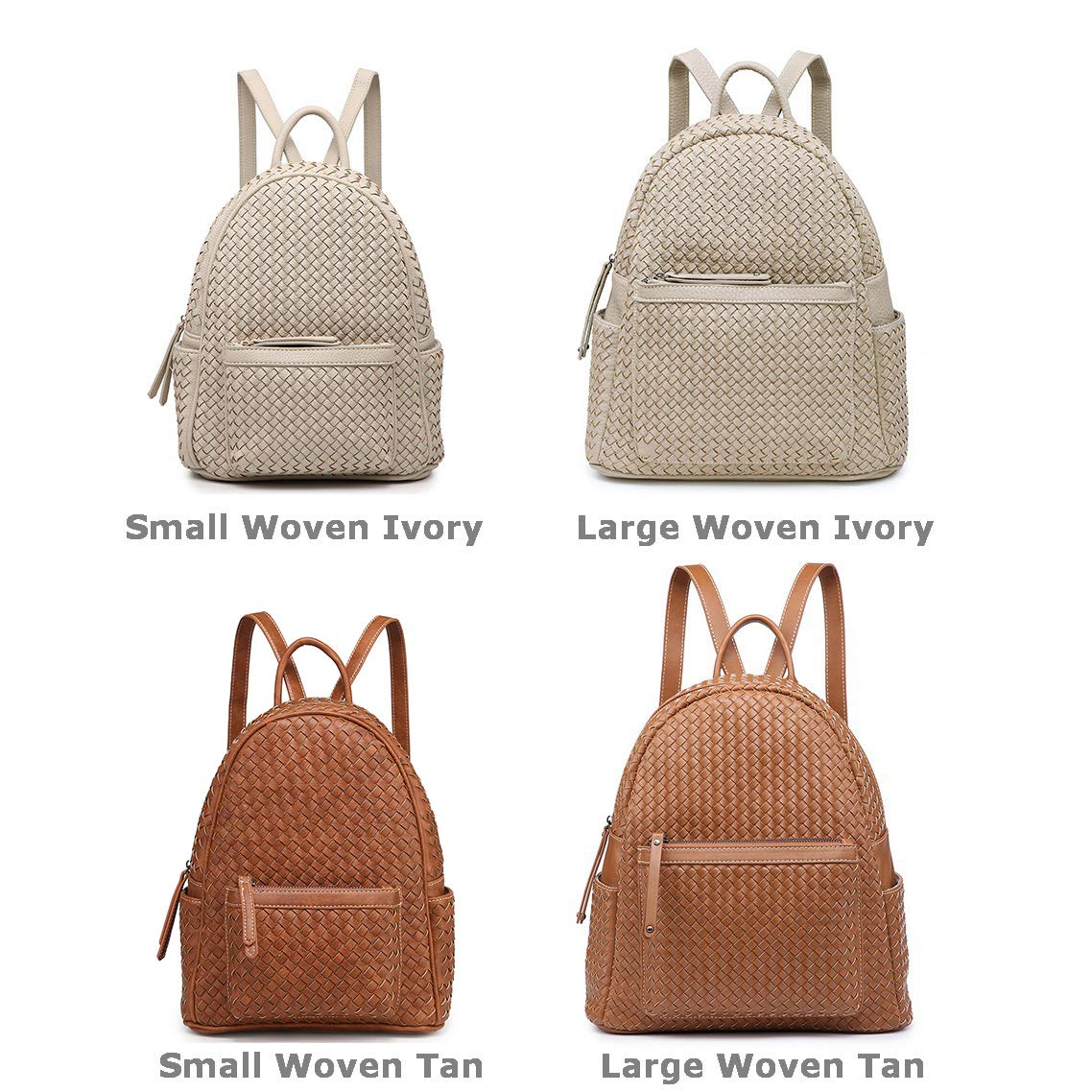 Small Women Backpack Purse for Women ladies Fashion Stylish Casual Shoulder Bags … (Tan) by Shomico (Image #2)