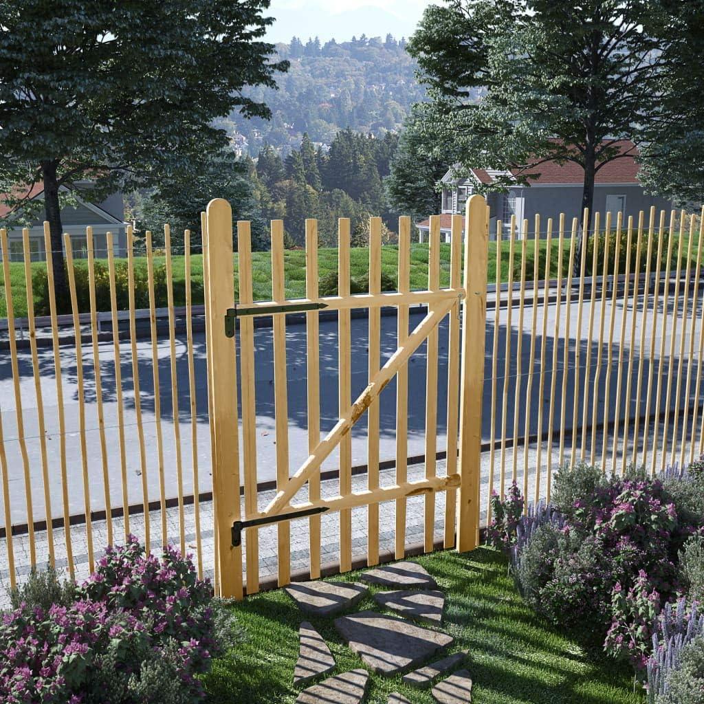 vidaXL Puerta para Valla de Jardín 100x150 cm Madera de Avellano ...