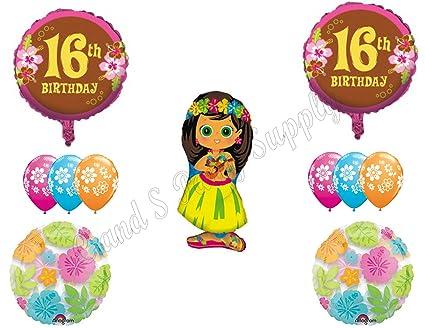 Amazon.com: XVI Luau dulce dieciséis Feliz Fiesta de ...