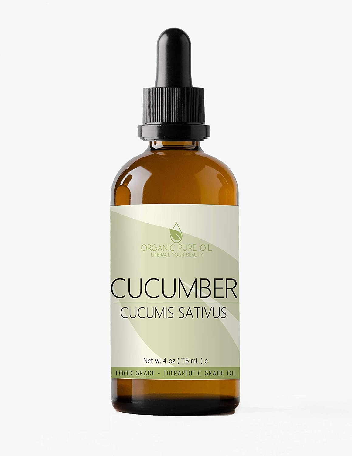 Cucumber Seed Oil 4 oz Organic 100% Pure Natural Cucumber Oil Cold Pressed Unrefined Hair Split Ends Skin Dry Skin Purifying Effect Premium Pharmaceutical Top Grade A By Organic Pure Oil
