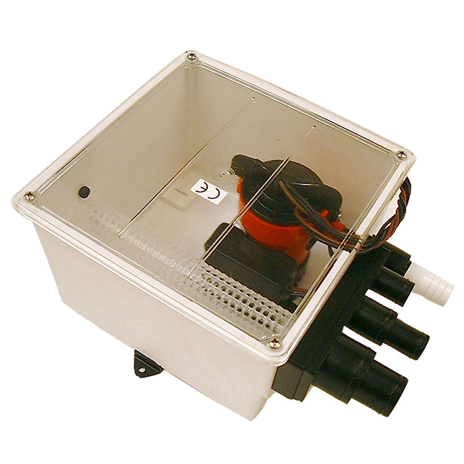 Johnson 12V 1000 GPH Multi Port Shower Pump with Switch (Pack of 2) by Johnson Pumps