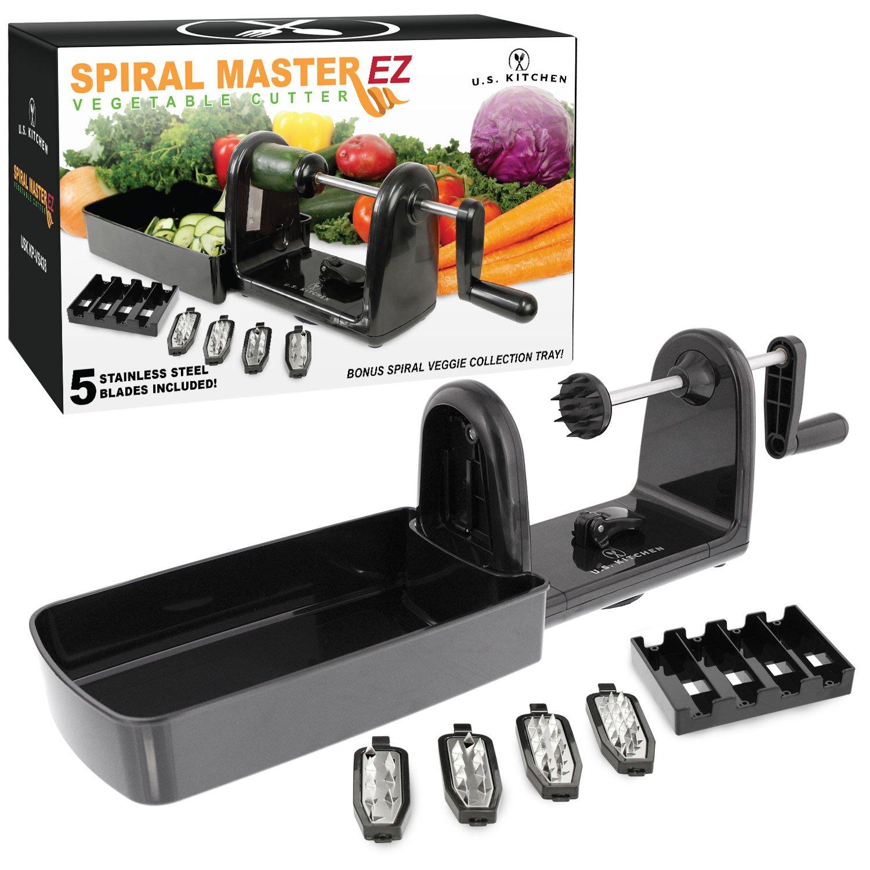 Amazon.com: U.S. Kitchen Supply Spiral Master EZ Vegetable Cutter ...
