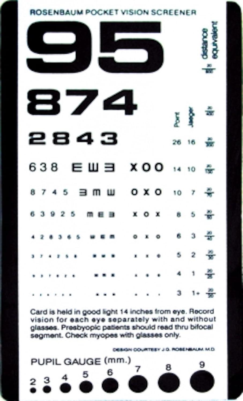 photo about Rosenbaum Chart Printable named : Pocket Eye Chart 14 Inch Rosenbaum Pocket Eyesight