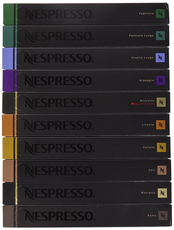 Nespresso OriginalLine Capsules Variety, 500 Capsules NOT compatible with Vertuoline machines