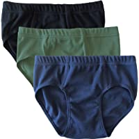 HERMKO 2850 Lot DE 3 Slips Garçons, Couleur Unique, 100% Coton, Taille élastique