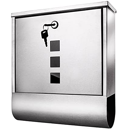 Meditool Stainless Steel Wall Mounted Mailbox Lockable Letterbox ...
