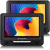 atune analog Portable DVD Players Dual Screen 2-Hour Rechargeable Battery 9in LCD Display USB Port SD Card Player Car…