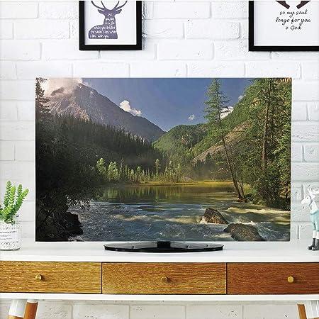 Funda para televisor LCD, decoración de casa del lago, vista ...
