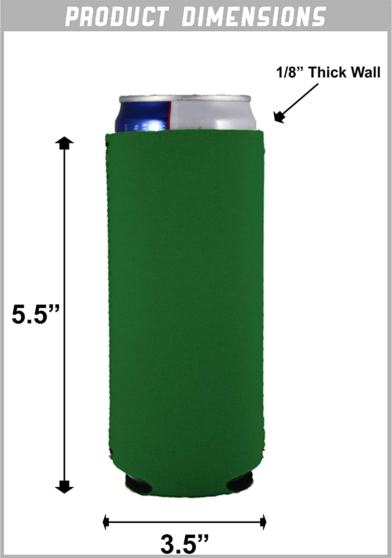 (1, Camo) - Blank Neoprene Collapsible Slim 350ml Can Coolie (1, Camo)