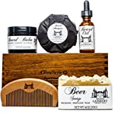 Ultimate Beard Kit Contains: Organic Beard Balm, Organic Beard Oil, Organic Beard Shampoo, Wood Beard Comb and a Free Organic Body Soap. Perfect fathers day gifts!