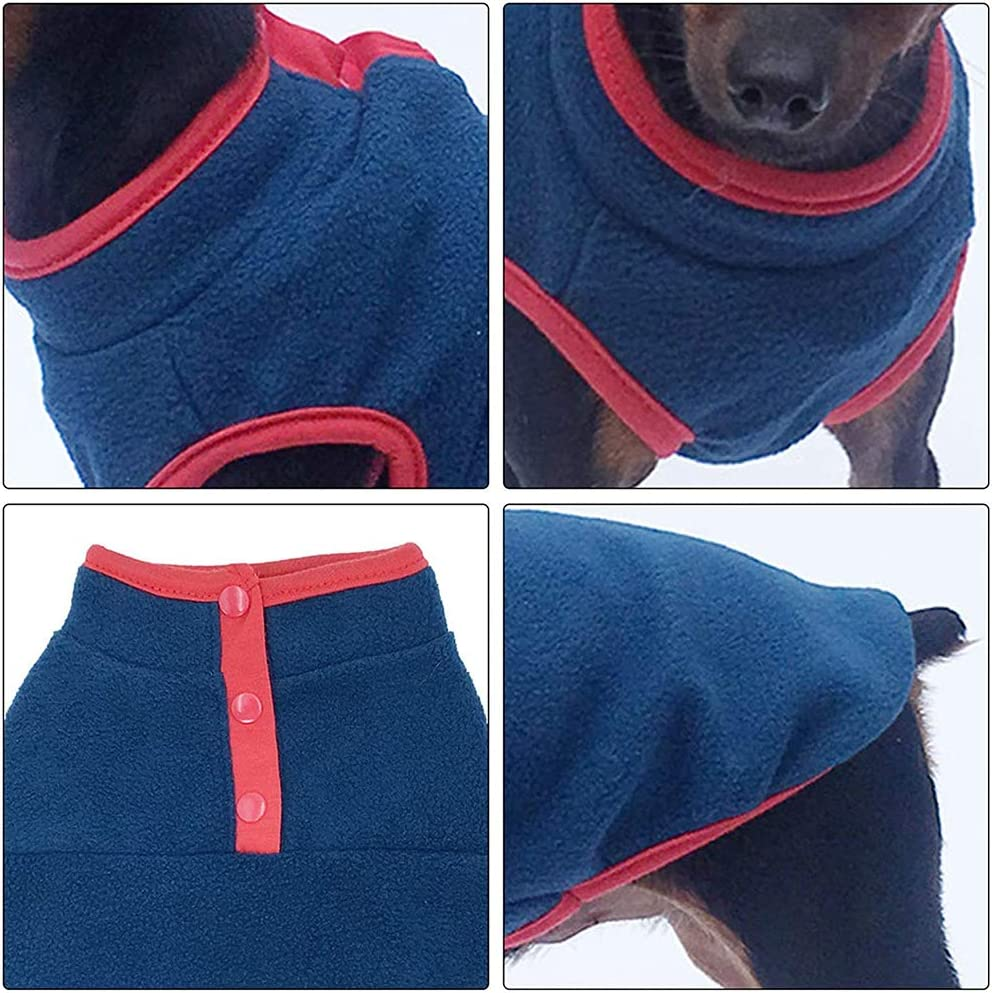 Warm Dog Clothes for Small to Large Dogs Cats BIGNADO Dog Warm Jumper Dog Cat Cold Winter Sweater with Buttons for Indoor and Outdoor Use Pullover Dog Fleece Fabric Vest