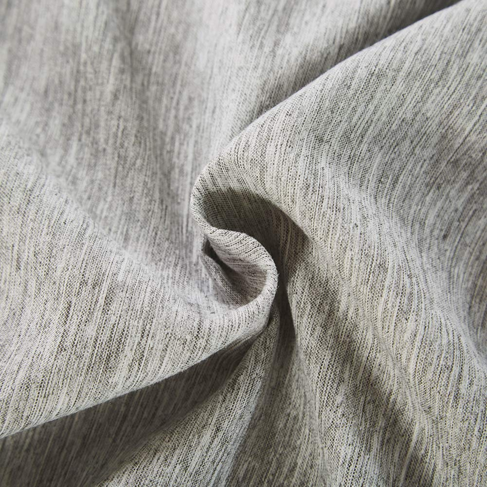 Mukka 3 Pieces Grey Heather Cotton Like Chambray Simple Style Coconut Button Closure Duvet Cover Bedding Set King Brushed Luxury & Breathable Microfiber Easy Care Bed Linen by MUKKA (Image #6)