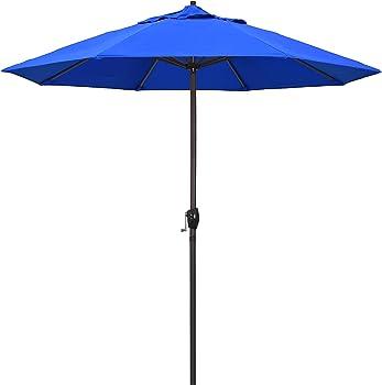 California Umbrella 9-Ft. Olefin Fabric Aluminum Auto Tilt