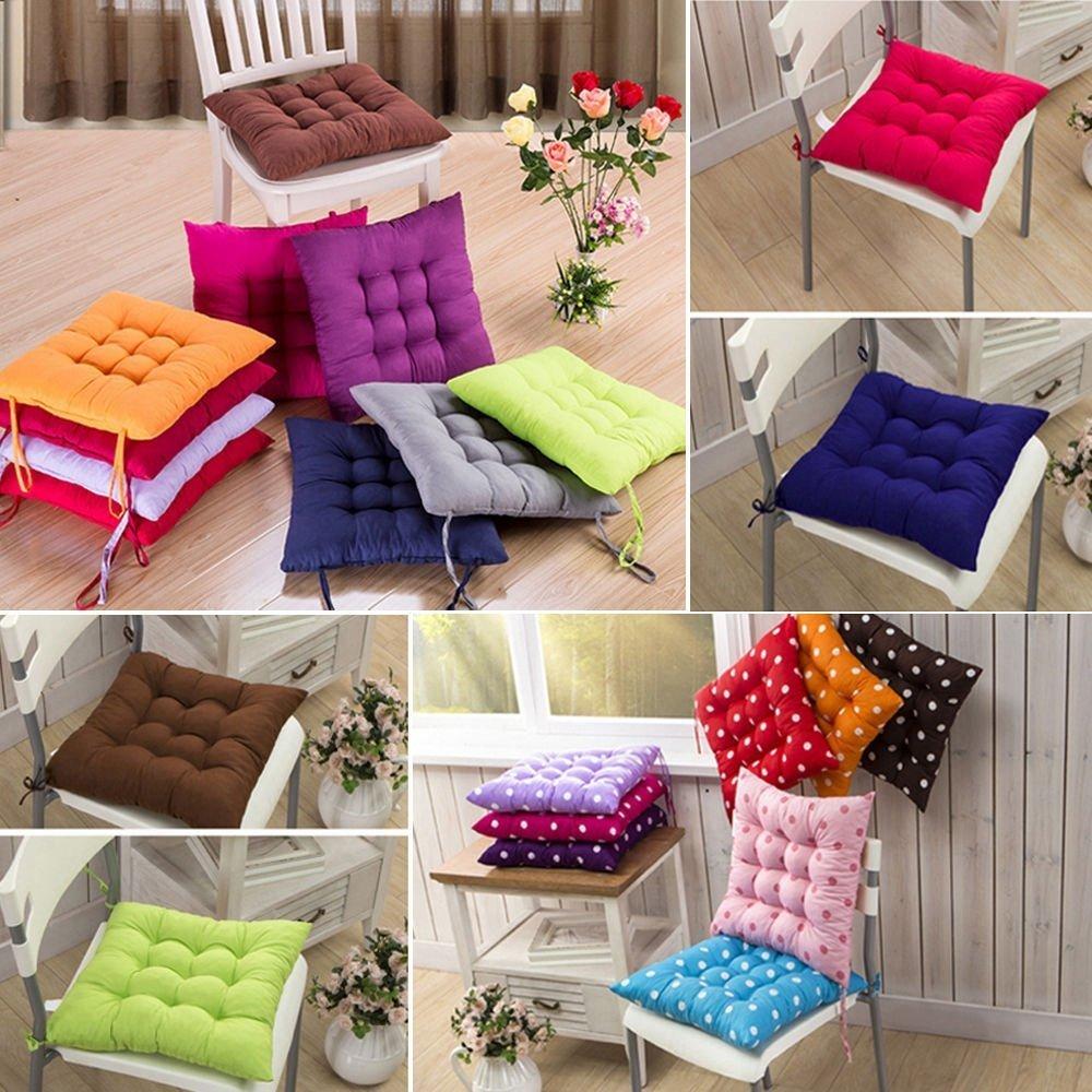 Naisicatar sedia ufficio cuscini per sedie Tie on Pad cuscino casa da pranzo patio Kitchen Decor–rosa rossa