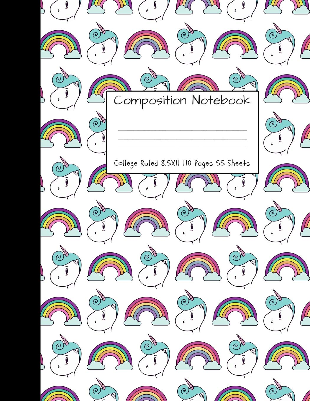 Buy Composition Notebook College Ruled: Unicorn Cute