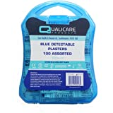 Safety First Aid Blue Plasters Detectable 100 Assorted by Qualicare