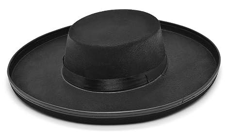 Adulti nero cappello Bandito Zorro feltro bilancio da uomo spagnolo Fancy  Dress 846618abf7b5