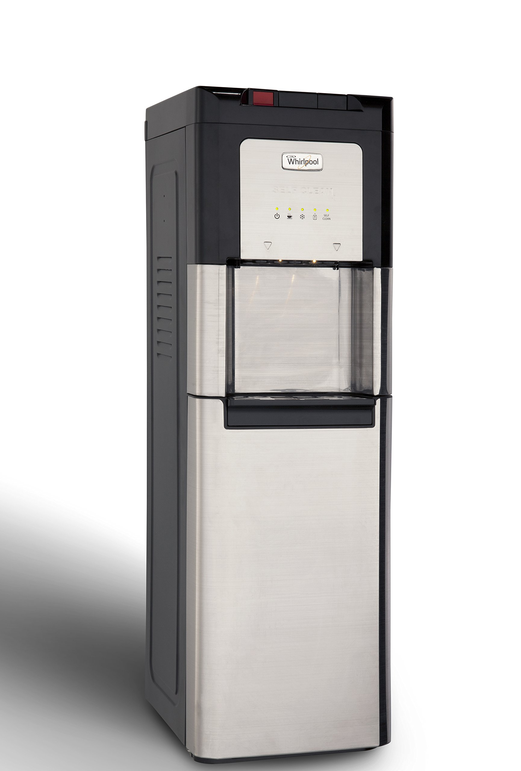 Whirlpool 8LIECH-SC-SSF-P5W Self Cleaning Stainless Bottom Load Water Cooler with LED indicators,40.5in x 12.6in x 15in