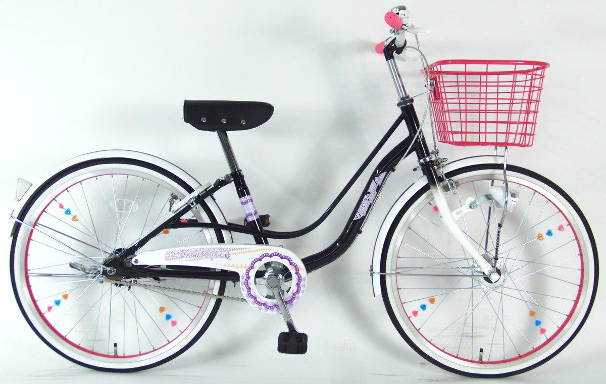 C.Dream(シードリーム) フルーツパフェ FP41-H 24インチ 子供自転車 ブラック 100%組立済み発送 B078YQ8T2L