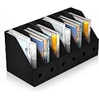ABClife Porta Revistero para Archivos,6PCS Organizador de Archivos de Plástico Resistente al Agua, Estante de Revistero…