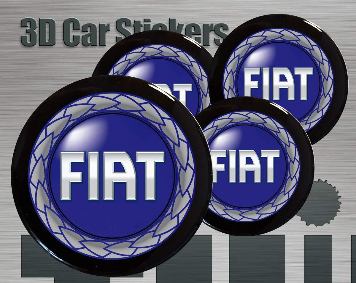 50mm Think Ink Adesivi 3D Stickers 4 Pezzi Logo Nuovo Imitazione Tutte Le Dimensioni Centro cap Wheel Coprimozzo