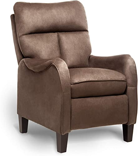 ERGOREAL Push Back Accent Chair Massage Recliner Chair Microfiber Arm Chair Single Reclining Chair