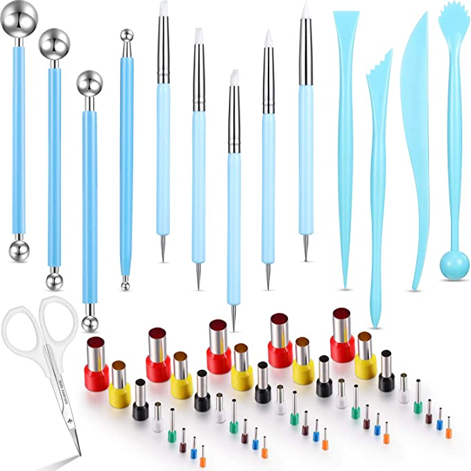 55 Pieces Polymer Clay Tools 40 Round Circle Shape Cutters Molds 4 Ball Stylus Dotting Tools 4 Modeling Tools Pottery Tools 5 Dual Ended Pottery Tools With Scissors And Storage Case Amazon Com