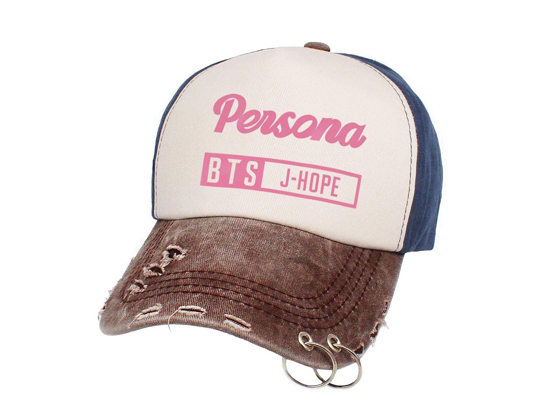 Fanstown Kpop BTS Bangtan Boys Cap Snapback Love Yourself Three Color Member Signature Iron Rings Cap Adjustable