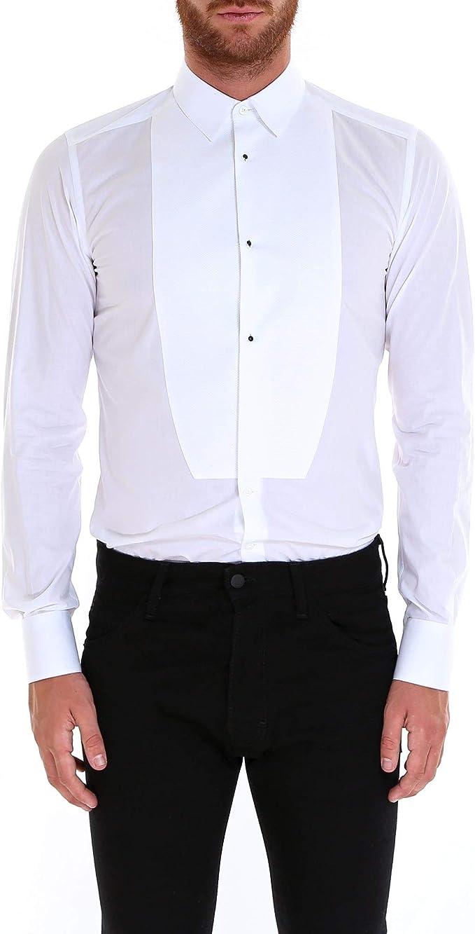 Luxury Fashion | Dolce E Gabbana Hombre G5EN4TFU5K9W0800 Blanco Camisa | Temporada Outlet: Amazon.es: Ropa y accesorios