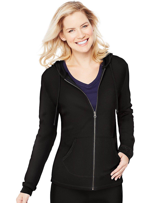 Hanes Women's French Terry Full-Zip Hoodie Sweatshirt Hanes Women's Activewear O46931