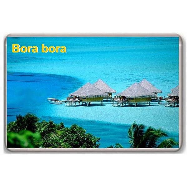 Island//Bora Bora//fridge magnet.!!! Aimant de r/éfrig/érateur