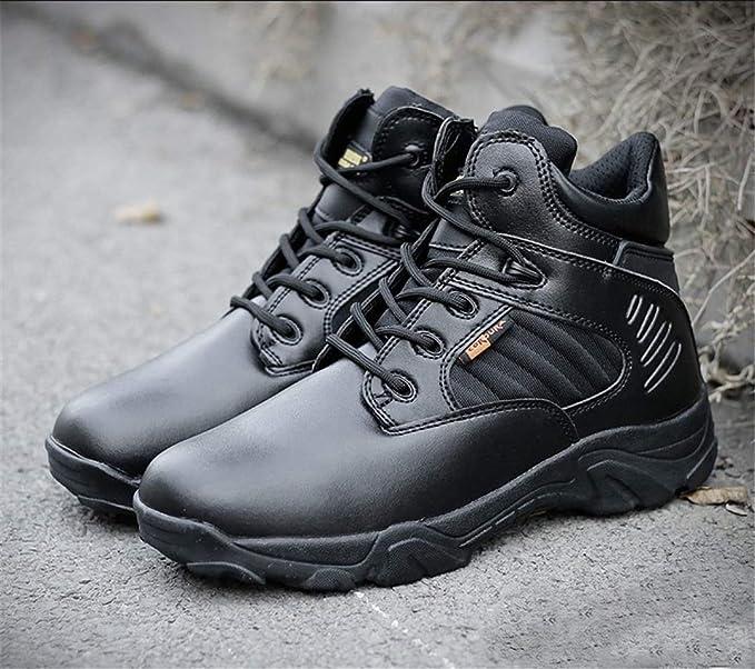 66286b738c300 Amazon.com: DengSha Winter Trekking Boots Men Tactical Combat Hiking ...
