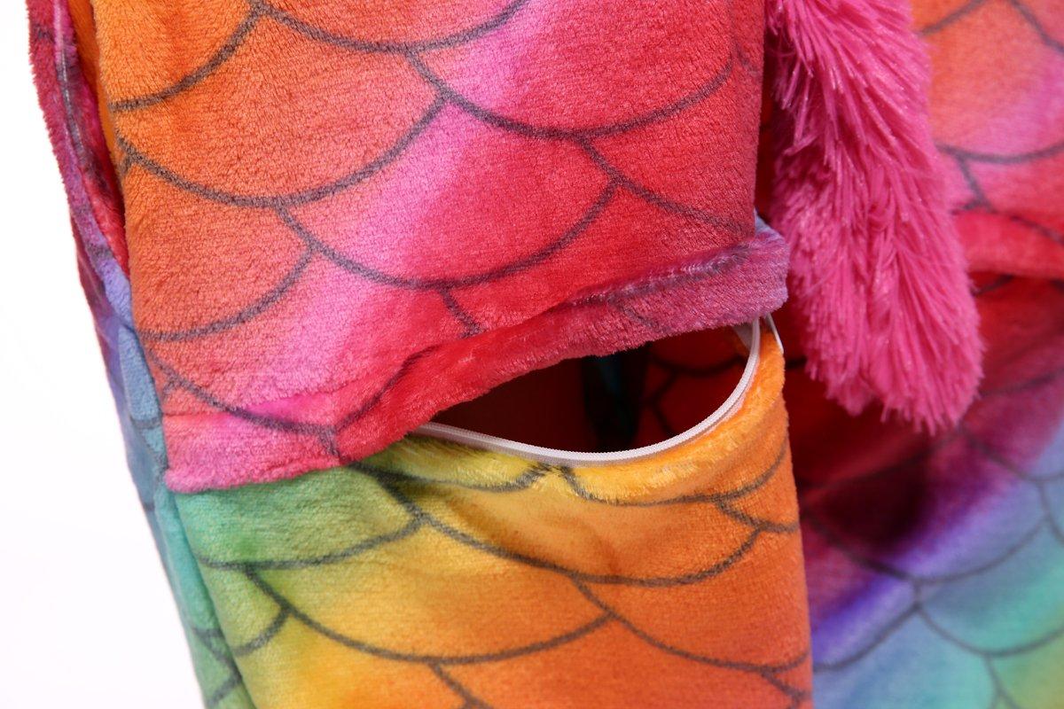 Blank King Unisex Unicorn Pajama Onesie Halloween Costume Cosplay (S, Mermaid-1) by Blank King (Image #6)