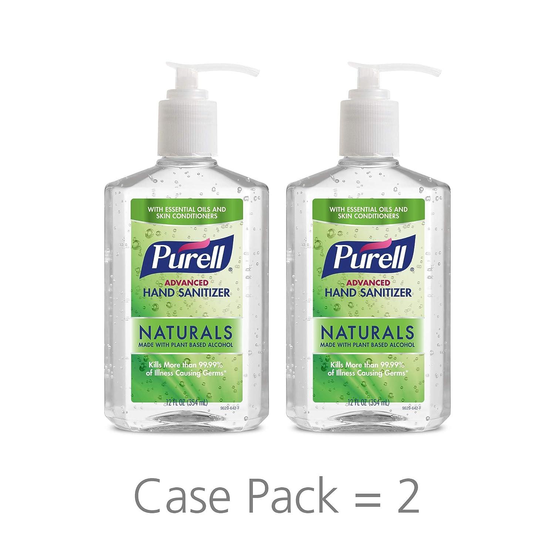 Purell Advanced Hand Sanitizer Naturals 12oz Pump Bottle Pack Of