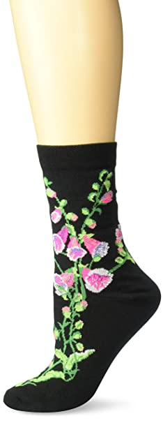 Ozone Women's Witches' Garden and Apothecary Floral Socks - Cotton