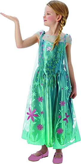 Halloweenia Disfraz de Frozen de Elsa para niña, Vestido de ...